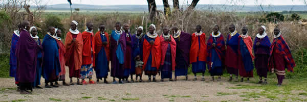 Maasai Villagers Welcome Guests on Cultural Tour