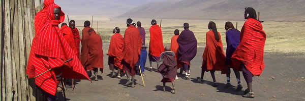Maasai Morans in Traditional Regalia
