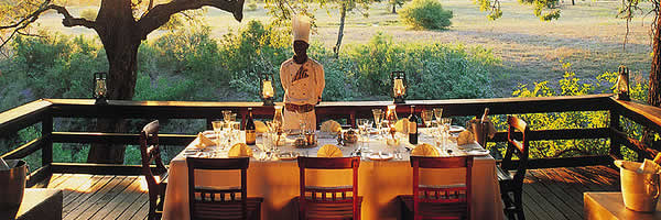 Dining Setup at Tented Camp